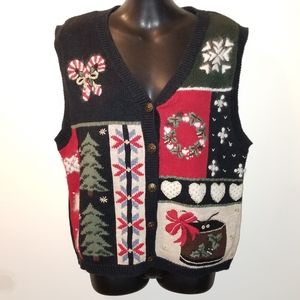 Vintage Women's Nut Cracker drum Sweater Vest sz S